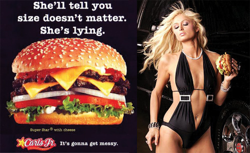 Carl's Jr Burger Paris Hilton