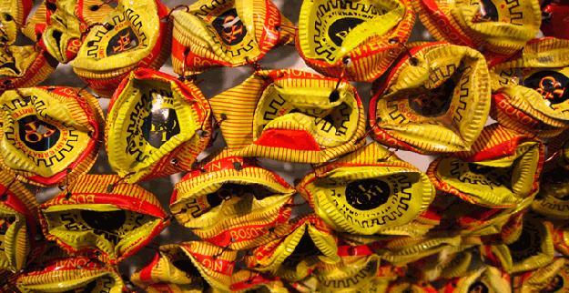 Close Up Bottle Caps El Anatsui Creative Food Project