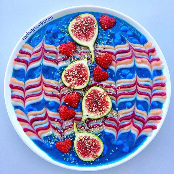 Fig and Rasberry Smoothie Bowl