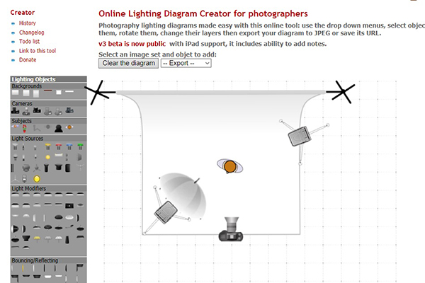 Lighting Diagram Creator Main Screen