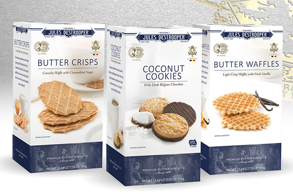Shelf Packaging Jules Destrooper Wafer box Creative Food Job