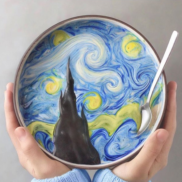 Starry Starry Night Smoothie Bowl
