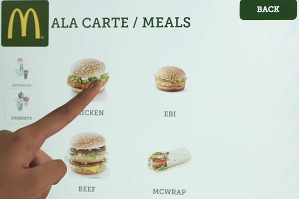 McDonalds Point of Sale Creative Food Job
