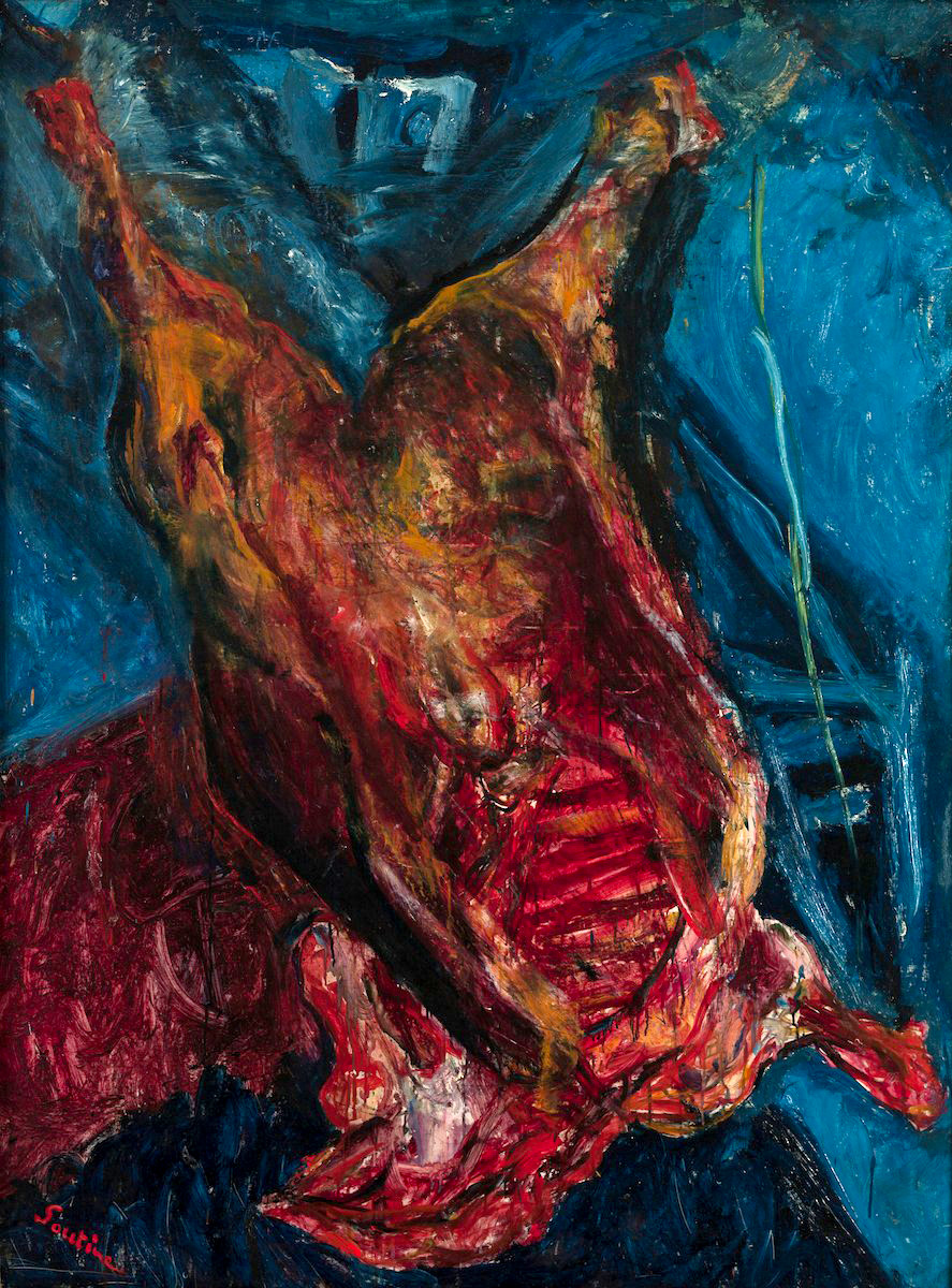 Chaim Soutine food expressionist, food expressionist painting, food fine arts icons, iconic food still life paintings, expressionist food painter, famous food painter, food fine arts inspiration, food creative inspiration, Chaim Soutine influential food artist, expressionist food art pioneer Chaim Soutine, jewish food art, carcass of beef
