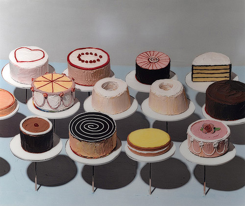 Wayne Thiebaud, Wayne Thiebaud postmodern food illustration, food fine arts icons, iconic food still life paintings, surrealist food painting, postmodern food illustrator, food fine arts inspiration, food creative inspiration, influential food artist, pop art food art pioneer Wayne Thiebaud, postmodern food art, cakes by wayne thiebaud