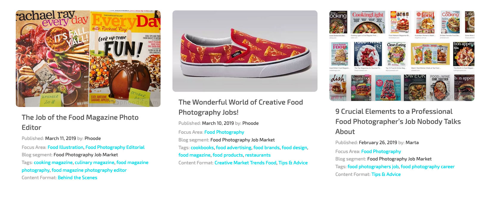 professional food photography blog, phoode food photography blog segments; professional food photography blog; international food photography community; food photography job market