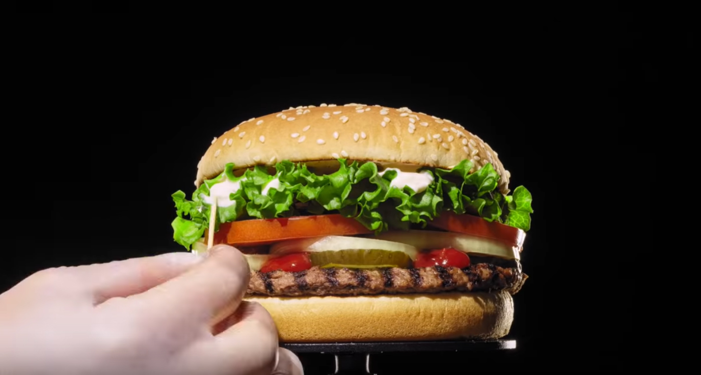 the whopper moldy, new food styling, burger king, preservative free fast food, new fast food advertising, healthy fast food, food styling, food photography