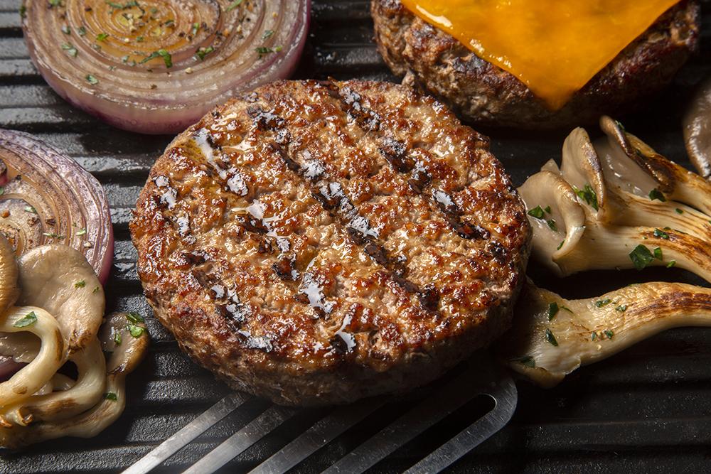 burger, burger food photography, burger creative direction, burger packaging design, commercial food photography shoot, commercial food photographer, burger mushroom patty